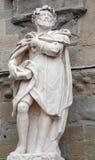 Bergamo - estátua do escrevente Torquato Tasso por Giovanni Battista Vismara imagens de stock royalty free