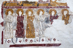 Bergamo - Fresco ofprophets from church Michele al pozzo bianco. Royalty Free Stock Photo