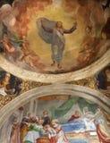 Bergamo - Fresco of resurrected Christ from side chapel in church Michele al pozzo bianco Royalty Free Stock Photography