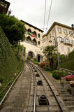 Bergamo Funicular station Royalty Free Stock Images