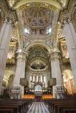 Bergamo - Główny nave katedralny Santa Maria Maggiore Zdjęcia Royalty Free