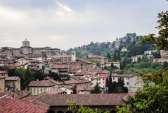 Bergamo.High City Royalty Free Stock Photo