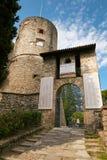 Bergamo, Itália - 18 de agosto de 2017: O castelo do La Rocca Bergamo é ficado situado na parte superior da cidade no monte de Sa Foto de Stock Royalty Free
