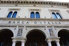 BERGAMO, ITÁLIA - 3 DE JULHO DE 2017: construção do ` Italia de Banca d do Banco de Itália na avenida de Viale Roma em Bergamo, I Imagens de Stock
