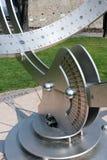 BERGAMO, ITÁLIA - 25 DE MARÇO: Relógio de sol moderno em Bergamo em Itália o Foto de Stock Royalty Free