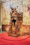 Bergamo, Italia - 18 agosto 2017: Di Santa Maria Maggiore, interno decorato della basilica del ` s di Bergamo dell'oro Fotografia Stock Libera da Diritti