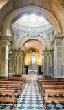 Bergamo, Italia - 18 agosto 2017: interno del duomo della cattedrale di Bergamo e del battistero Fotografia Stock Libera da Diritti