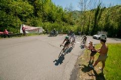 Bergamo Italia 21 2017 Maj: 100 jeździć na rowerze wycieczka turysyczna Italy Obraz Royalty Free