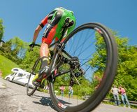 Bergamo Italia 21 2017 Maj: 100 jeździć na rowerze wycieczka turysyczna Italy Zdjęcia Stock