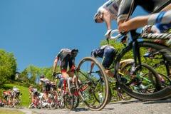 Bergamo Italia 21 2017 Maj: 100 jeździć na rowerze wycieczka turysyczna Italy Zdjęcia Royalty Free