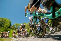Bergamo Italia 21 2017 Maj: 100 jeździć na rowerze wycieczka turysyczna Italy Obrazy Royalty Free