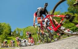 Bergamo Italia 21 2017 Maj: 100 jeździć na rowerze wycieczka turysyczna Italy Zdjęcie Royalty Free