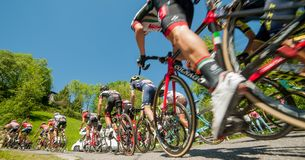 Bergamo Italia 21 2017 Maj: 100 jeździć na rowerze wycieczka turysyczna Italy Fotografia Stock