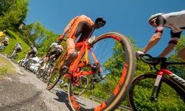 Bergamo Italia 21 2017 Maj: 100 jeździć na rowerze wycieczka turysyczna Italy Obrazy Stock
