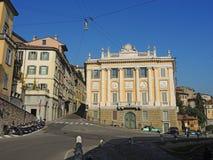 Bergamo, Italien, die alte Stadt Ein der schönen Stadt in Italien Die alten und historischen Gebäude an der oberen Stadt Lizenzfreies Stockbild