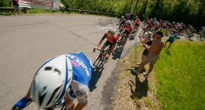 Bergamo Italien am 21. Mai 2017: Radtour 100 von Italien Stockbild