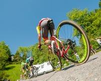 Bergamo Italien am 21. Mai 2017: Radtour 100 von Italien Lizenzfreie Stockfotografie