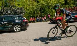 Bergamo Italien am 21. Mai 2017: Radtour 100 von Italien Lizenzfreies Stockfoto