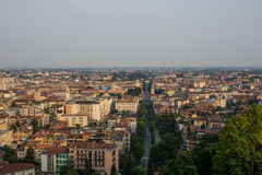 Bergamo, Italy. The city from above at sunset Stock Image