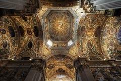 Bergamo, Italy - April 25, 2016: Interior of Basilica di Santa Maria Maggiore. The church is Romanesque architecture Inside royalty free stock photos