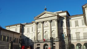 Bergamo, Italy. The art gallery and academy of fine arts named Accademia Carrara
