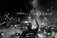 Folkstone @ Malpaga Sounds 2018. Bergamo, Italy - August 03, 2018: The Italian folk rock band Folkstone performs at Malpaga Sound in Malpaga BG. Brambilla Simone Stock Photo