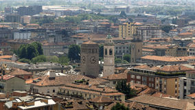 Bergamo Italy city view. The Bergamo metropolitan area is itself part of the broader Milan metropolitan area.  Is a city in Lombardy, Italy, about 40 km Stock Photography