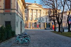 Bergamo, Italy, Jan 25, 2019 - The Accademia Carrara is an art gallery and an academy of fine arts in Bergamo, Italy.  royalty free stock images