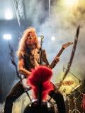 Atavicus at Malpaga Folk and Metal Fest BG 29-07-2018. Bergamo, Italy - July 29, 2018: The Italian Metal band ATAVICUS performs at 6th Folk and Metal Fest of Stock Photography