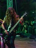 Atavicus at Malpaga Folk and Metal Fest BG 29-07-2018. Bergamo, Italy - July 29, 2018: The Italian Metal band ATAVICUS performs at 6th Folk and Metal Fest of Stock Images