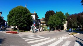 Bergamo, Italy. Landscape at the crossing Colle Aperto at the old town stock video