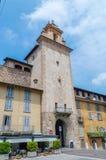 Bergamo clock tower. Torre Dell`O royalty free stock photos