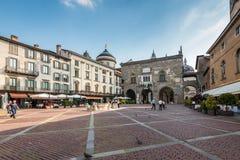 Bergamo Piazza Vecchia Stock Photo