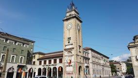 Bergamo, Italy. The memorial tower or Torre dei Caduti in Italian located in the the city center stock video footage