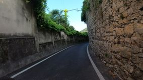 Bergamo, Italy. Rider or cyclist POV. Gopro 4K Hyper lapse along the hills that surround Bergamo with a mountain bike stock footage