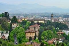 Bergamo, Italy. View to the Bergamo city, Italy stock photos