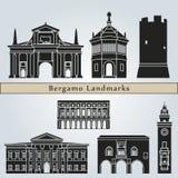 Bergamo landmarks and monuments Stock Images