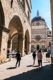 Bergamo Lombardy Italy - The Bergamo Città Alta cathedral stock photo