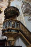 BERGAMO, LOMBARDY/ITALY - CZERWIEC 25: Ambona w katedrze S Fotografia Royalty Free