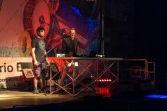 BERGAMO, LOMBARDY/ITALY - CZERWIEC 25: Festiwal Muzyki w piazza Vec Obraz Stock