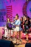 BERGAMO, LOMBARDY/ITALY - CZERWIEC 25: Festiwal Muzyki w piazza Vec Obrazy Royalty Free