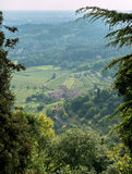 BERGAMO, LOMBARDY/ITALY - JUNE 25 : View from Citta Alta in Berg Stock Photo