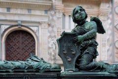 BERGAMO, LOMBARDY/ITALY - 25 JUNI: Traliewerkdetail buiten B Royalty-vrije Stock Afbeeldingen