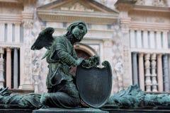 BERGAMO, LOMBARDY/ITALY - 25 JUNI: Traliewerkdetail buiten B Stock Fotografie