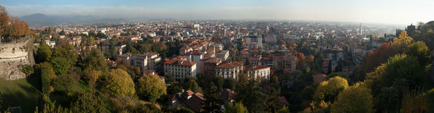 Bergamo, Lombardy, Italy. Panoramic view. Royalty Free Stock Images