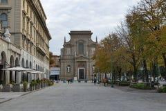 Bergamo - St. Bartolomeo church. Bergamo, Lombardy, Italy - St. Bartolomeo church along The Sentierone Royalty Free Stock Images