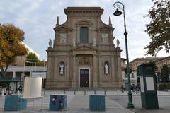 Bergamo - St. Bartolomeo church. Bergamo, Lombardy, Italy - St. Bartolomeo church along The Sentierone Royalty Free Stock Photo