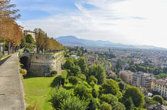 Bergamo, Lombardy Italy view Stock Images