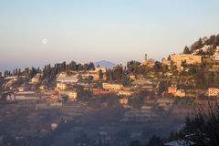 Bergamo - look from Walls to west Royalty Free Stock Photos