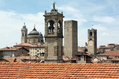Bergamo losu angeles Citta Alta okręg Obraz Royalty Free